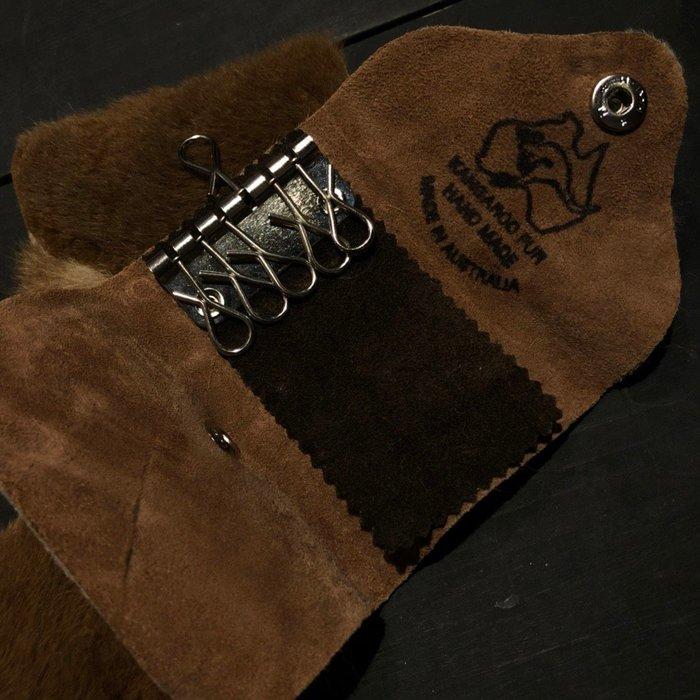 澳洲袋鼠皮鑰匙包