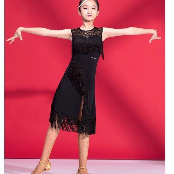 5Cgo【鴿樓】會員有優惠 554670461299  拉丁服裝女成人新款演出服秋季長袖練功服舞蹈蕾絲網紗連衣裙