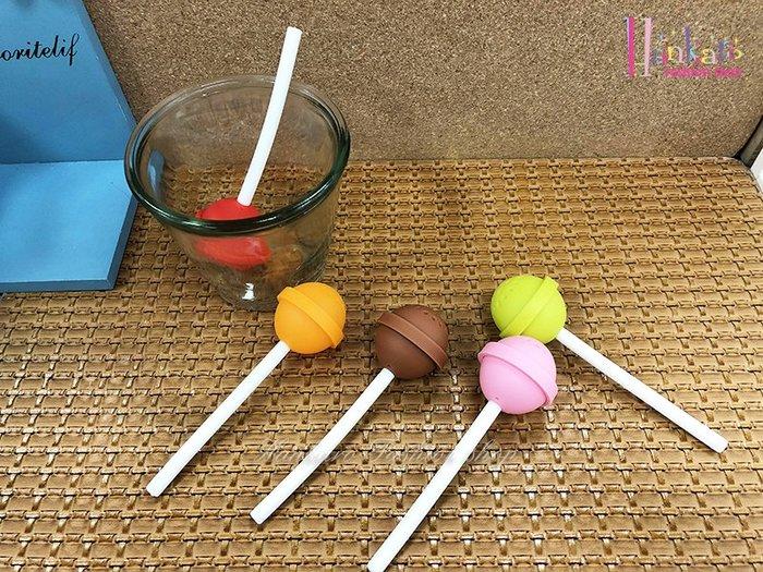 ☆[Hankaro]☆ 創意趣味矽膠棒棒糖造型沖茶器