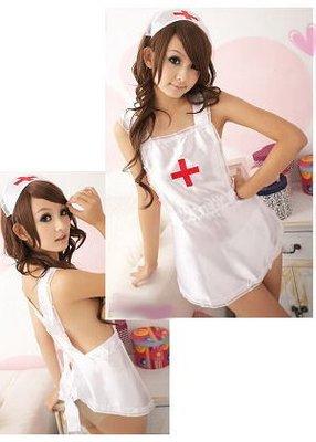 性感薄紗俏護士二件組 連身裙 9015