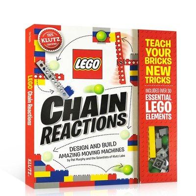 英文原版 Klutz Lego Chain Reactions手工DIY 樂高創造令人驚奇的可動機械小學STEM書籍輔導