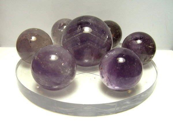 小風鈴~天然高檔巴西紫水晶球七星陣41mm(大顆)總重:388g