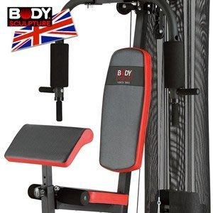 配重片150磅綜合重量訓練機(附護網+二頭肌板)多功能舉重床.槓鈴啞鈴舉重力設備運動健身MC016-4302【推薦+】