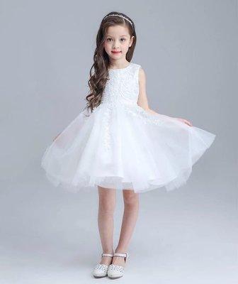 韓版女童蓬蓬 公主裙 畢業演出服 鋼琴演奏花童 白色禮服 洋裝紗裙 016還有多款冰雪奇緣