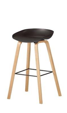 【韓風臻品M1043A7】北歐實木腳吧椅(73.5座高)(黑/白/紅)