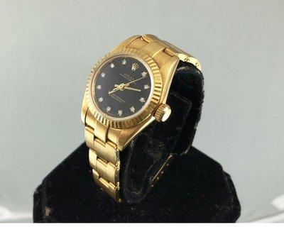 順利當舖   Rolex/勞力士  原裝勞力士67198型18K金女鑽錶