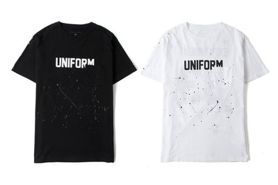 Uniform Experiment NUMBERING STAR DRIPPING POCKET TEE 含運 ue