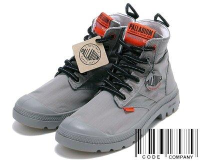 =CodE= PALLADIUM PAMPA LITE+ VAPOR WP+ 防水輕量軍靴(灰橘)76194-011 男