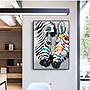 駿馬掛畫【RS Home】70×100cm 抽象藝術無框掛畫相框木質壁畫北歐中式裝飾畫板民宿攞飾油畫掛鐘掛畫