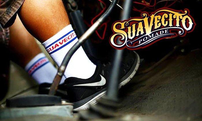 "GOODFORIT / 加州造型品牌Suavecito同名襪款""Blue & Red"" Socks經典髮廊配色"