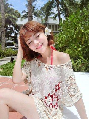 全新sun•day RAGA.LA 蕾絲罩衫 Whispered Lace Tunic XS 名部落客作家女王著用推薦