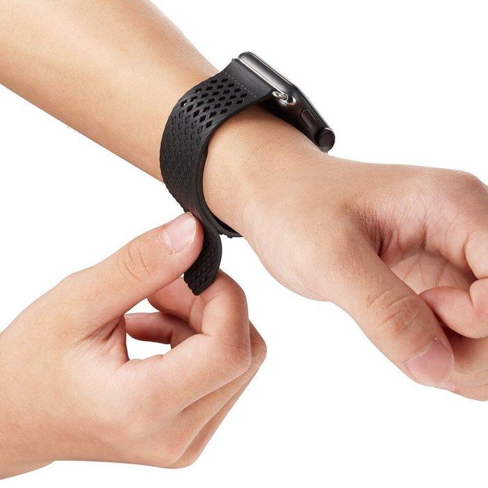 Ticwatch 1代  錶帶 時尚運動矽膠手錶帶 22mm 洞洞透氣 環保硅膠 防汗防水 時尚簡約 運動型錶帶