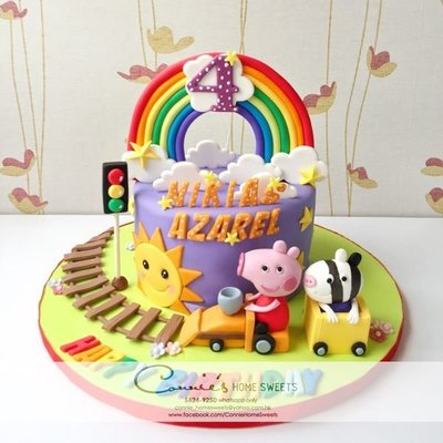 【Connie's Home Sweets】Peppa Pig Cake 3D figure custom made cake 生日蛋糕 (可來圖訂造 可改主題)