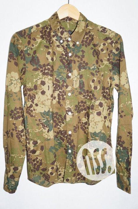 特價「NSS』SOPHNET SOPH SOCCER BALL CAMOUFLAGE B.D SHIRT 迷彩長袖襯衫