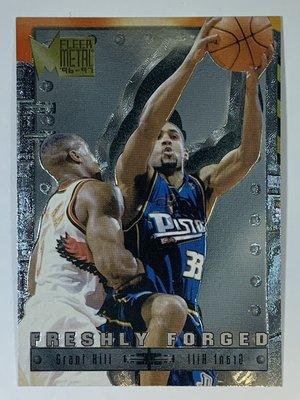 1996-97 Fleer Metal Freshly Forged #7 Grant Hill Pistons
