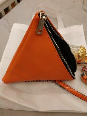 LIPPY精品愛馬仕橘造型三角粽子晚宴包手提包可肩背包