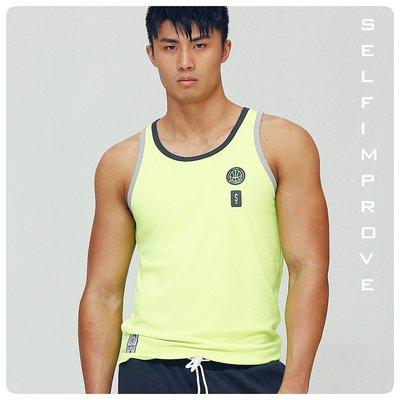 【OTOKO Men's Boutique】固制:新復古綜合運動背心/螢光綠/正版(台灣獨家代理)