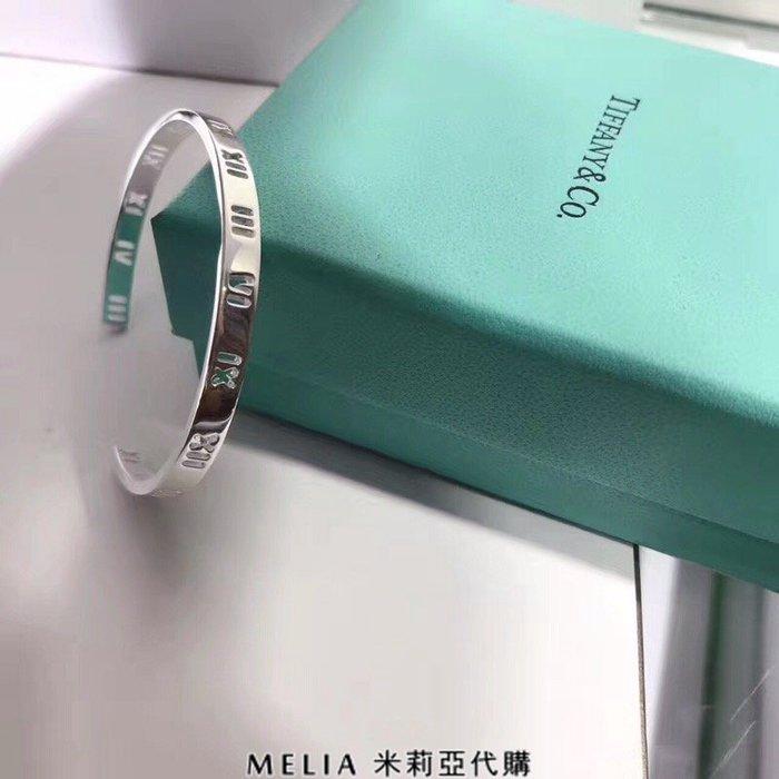 Melia 米莉亞代購 Tiffany&Co. 925純銀 2018Sss Tiffany 蒂芙尼 手環 手鐲 羅馬數字