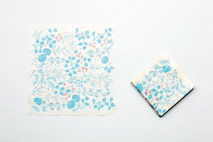 《散步生活雜貨-和雜貨散步》日本製 岡理恵子 北の模様帖 餐巾紙 100枚一組 26546-05