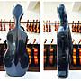 【三益琴行】新品上架,大提琴硬盒,複合碳纖材質,黑格