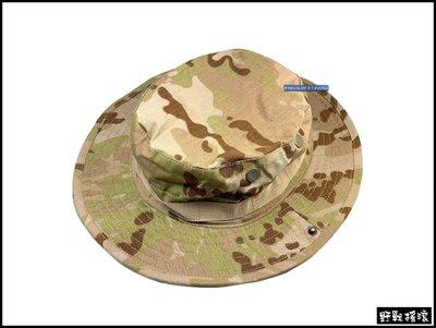 【野戰搖滾-生存遊戲】超酷!美軍戰術圓邊帽【Multicam Arid】奔尼帽闊邊帽沙漠多地形迷彩圓盤帽多地形圓帽