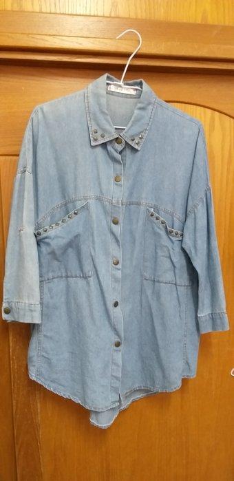 復古感衣著牛仔襯衫,實品很美,超好搭,可當外套