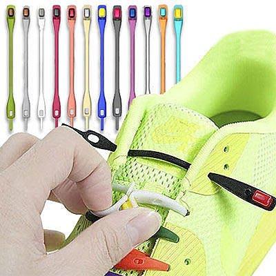 ☆雙兒網☆特價  創意潮人【AO2256】創意彩色矽膠鞋帶(6入一組) 懶人鞋帶/另有增高鞋墊