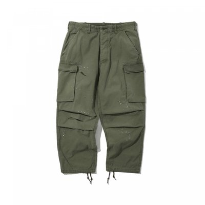 19AW MADNESS VINTAGE PROCESSED CARGO PANTS 余文樂 潑漆 破壞 長褲 工作褲