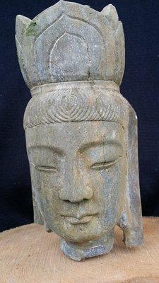 【準提坊】觀音菩薩石雕佛首,重約5.6公斤,高約24公分