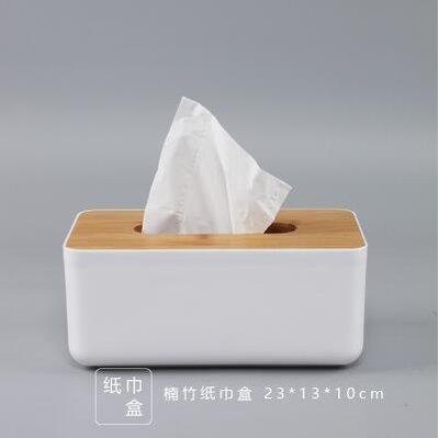 【優上】歐式紙巾盒餐巾紙抽盒 客廳車用抽紙盒橡木製蓋子「楠竹蓋 紙巾盒」