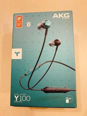 三星 AKG Y100 WIRELESS 綠色 無線藍牙耳機 HARMAN 8Hr續航力 磁吸設計 /