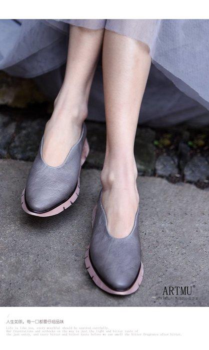 *菇涼家*2019春季新款复古潮鞋休閒運動鞋平底尖頭单鞋
