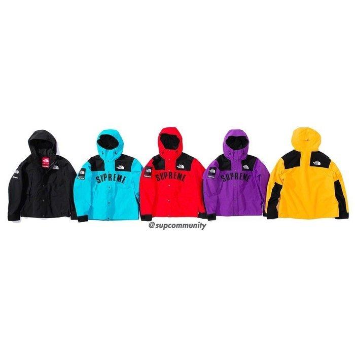 【美國鞋校】預購 Supreme SS19 TNF Arc Logo Mountain Parka 衝鋒衣 五色