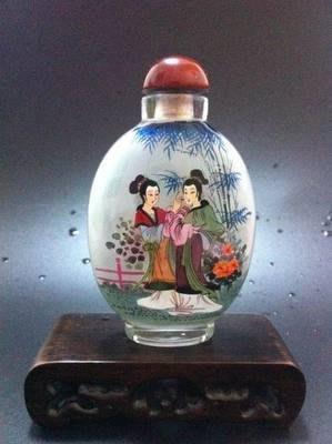 仕女圖2內畫鼻煙壺中國特色手工藝品中國風外事商務小禮品手繪送長輩 壺說74