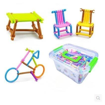 『格倫雅品』幼稚園兒童益智拼圖3-7歲玩具男孩女孩創意智力拼插積木棒4-6周歲