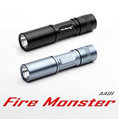 《實體店面》【Fire Monster】3號電池*15W鋁鎂合金超迷你激白光手電筒 ~ 超值加贈金頂電池x1顆