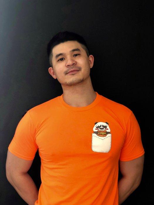 Fat Panda設計款 肥熊貓T恤 ( 漢堡熊貓 )