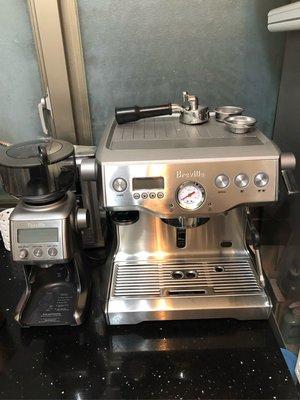 Breville920義式半自動咖啡機 加820xl磨豆機