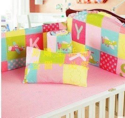[王哥廠家直销]康威嬰兒床上用品六件套純全棉可拆洗新生嬰兒床床圍寶寶床品套件 嬰兒床上用品套件 嬰兒床圍六件套LeGou_