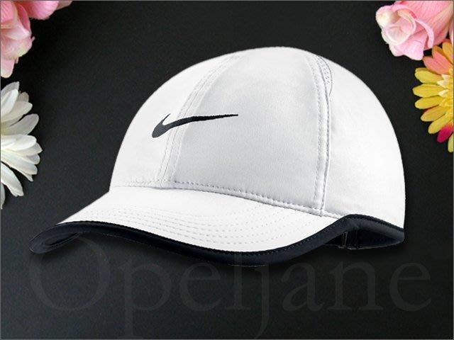 Nike Baseball Hat Cap 耐吉輕薄白棒球帽網球帽遮陽帽高爾夫球帽可調整帽圍慢跑透氣夏日防曬防紫外線帽子