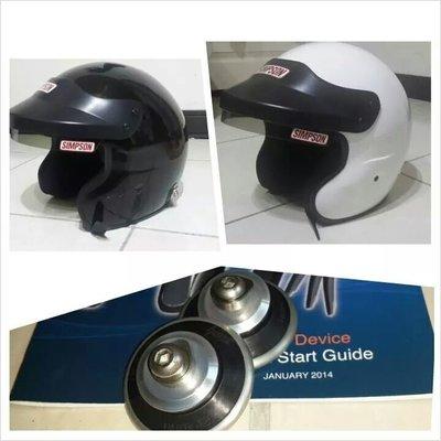 人身部品~全新simpson 3/4半罩安全帽含hans扣只要12500