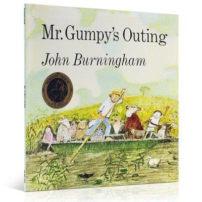 英文原版 和甘伯伯去游河Mr Gumpy's Outing 1970年凱特·格里納威獎 吳敏蘭 3-6歲啟蒙兒童紐約公共