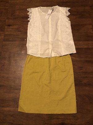 日本 niko and 芥茉黃窄裙 及膝裙  原價 1990 muji JEANASIS girl