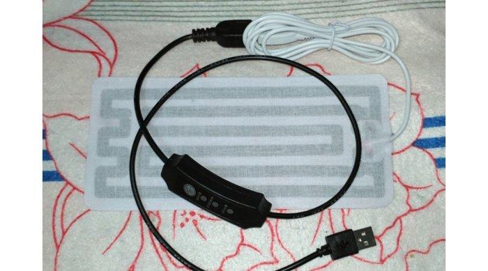 DC5V USB接頭寵物用發熱片.8*18CM帶三檔定時電子溫控器