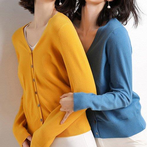 針織外套 韓系 秋裝新品糖果色系好質感小罩衫 艾爾莎  【TAE7764】