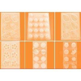 【巧克力模-PP吸塑-多造型-5個/組】巧克力模具 卡通套裝果凍布丁模具 PP模吸塑模-8001001