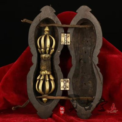 天吳寶軒 仿古西藏純手工打造鎏金藏銀九股多杰降魔法器zgt-0144