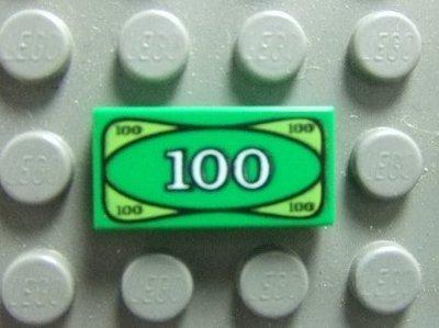 【積木1977】Lego樂高-全新-城市系列 鈔票/100元紙鈔/錢 1X2Tile(印刷磚片)