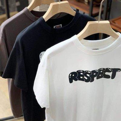 ☆COOKIE@RUGGISON RESPECT☆2021/4到貨-美式復古仿舊水洗短袖圓領T恤-三色可選-正品!!