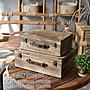 仿古造型收納箱 懷舊古早味木製旅行箱 復古...